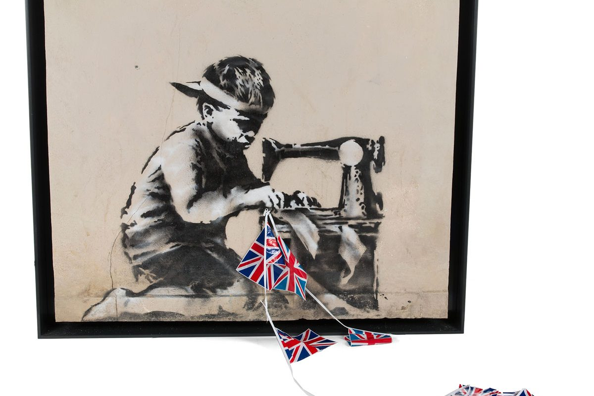 Artist Buys Banksy's 'Slave Labour' to Whitewash It