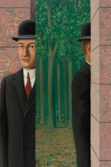 Christie's to Offer 'Bowler Hat' Magritte Masterpiece. Image courtesy Christie's.