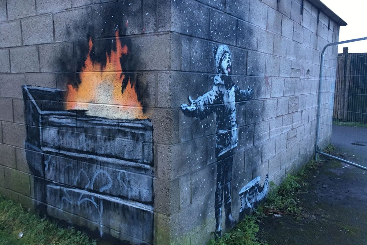 Latest Banksy Artwork 'Season's Greetings' Sold for Six-figure Sum
