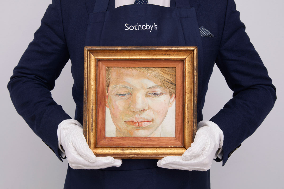 Rare Lucian Freud Portrait Expected to Fetch Millions At Sotheby's Auction