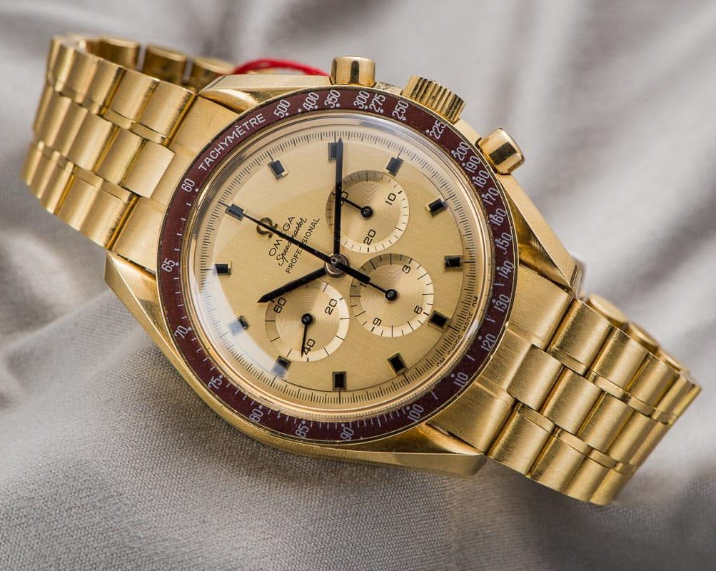 Omega celebrates 50th Anniversary of Apollo 11 Moon Landing with Speedmaster Gold