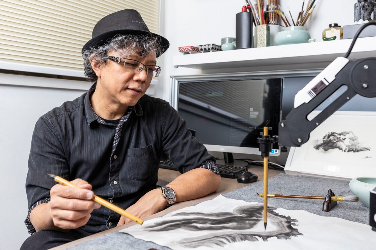 Victor Wong's Far Side of the Moon Showcases Chinese Ink Art by Artificial Intelligence
