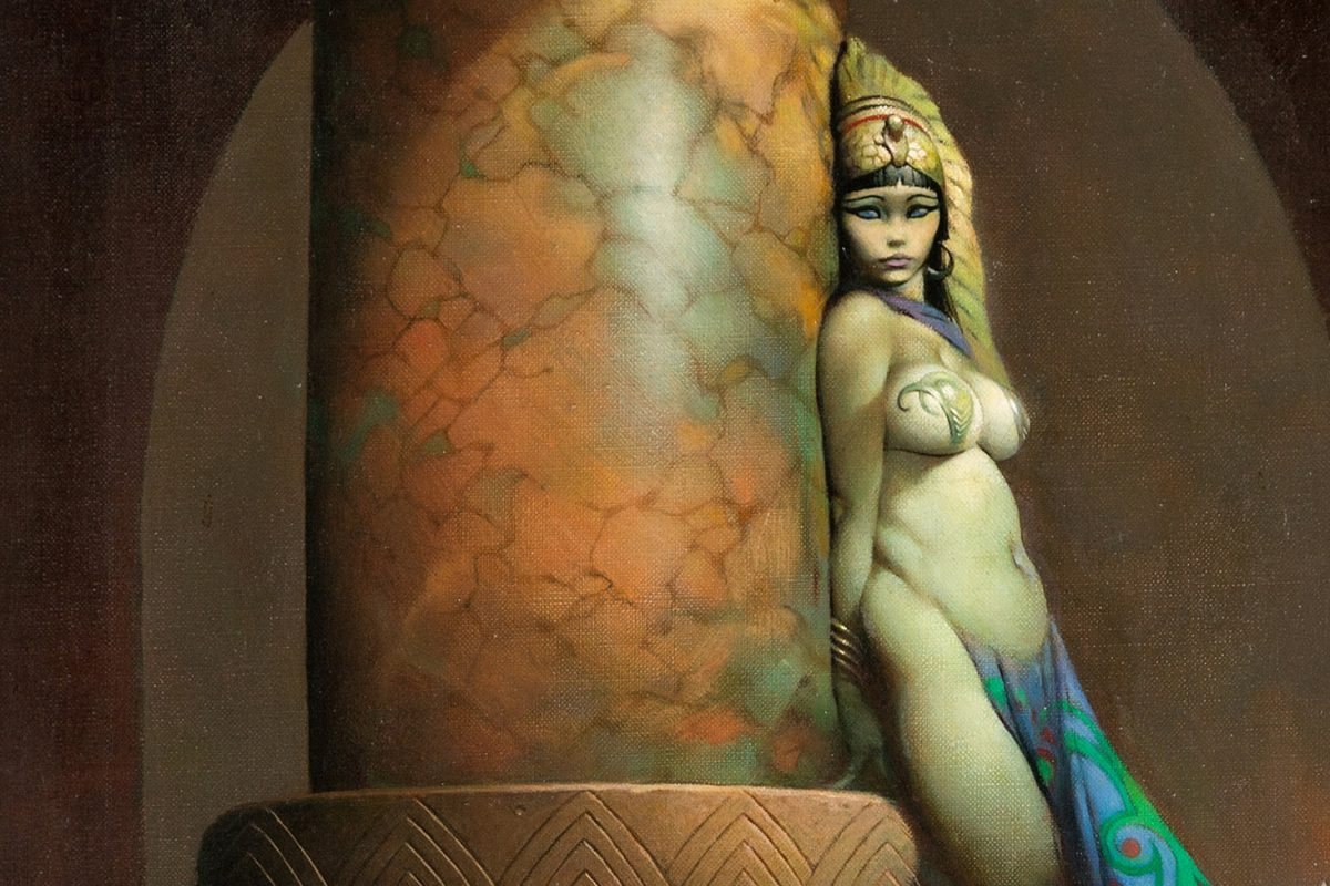 Frank Frazetta Fantasy Painting Egyptian Queen Comes to Auction For First Time