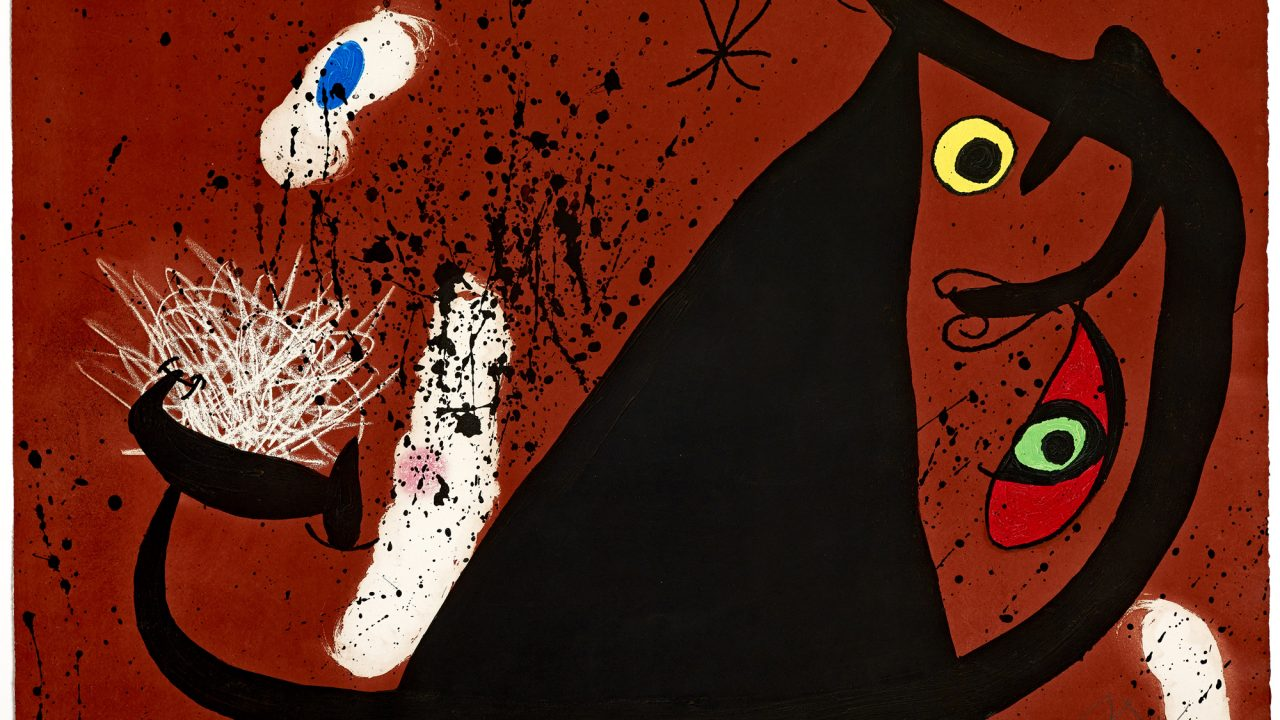 https://www.artsandcollections.com/wp-content/uploads/2019/07/Joan-Miro-Frappeuse-de-silex-1973-1280x720.jpg