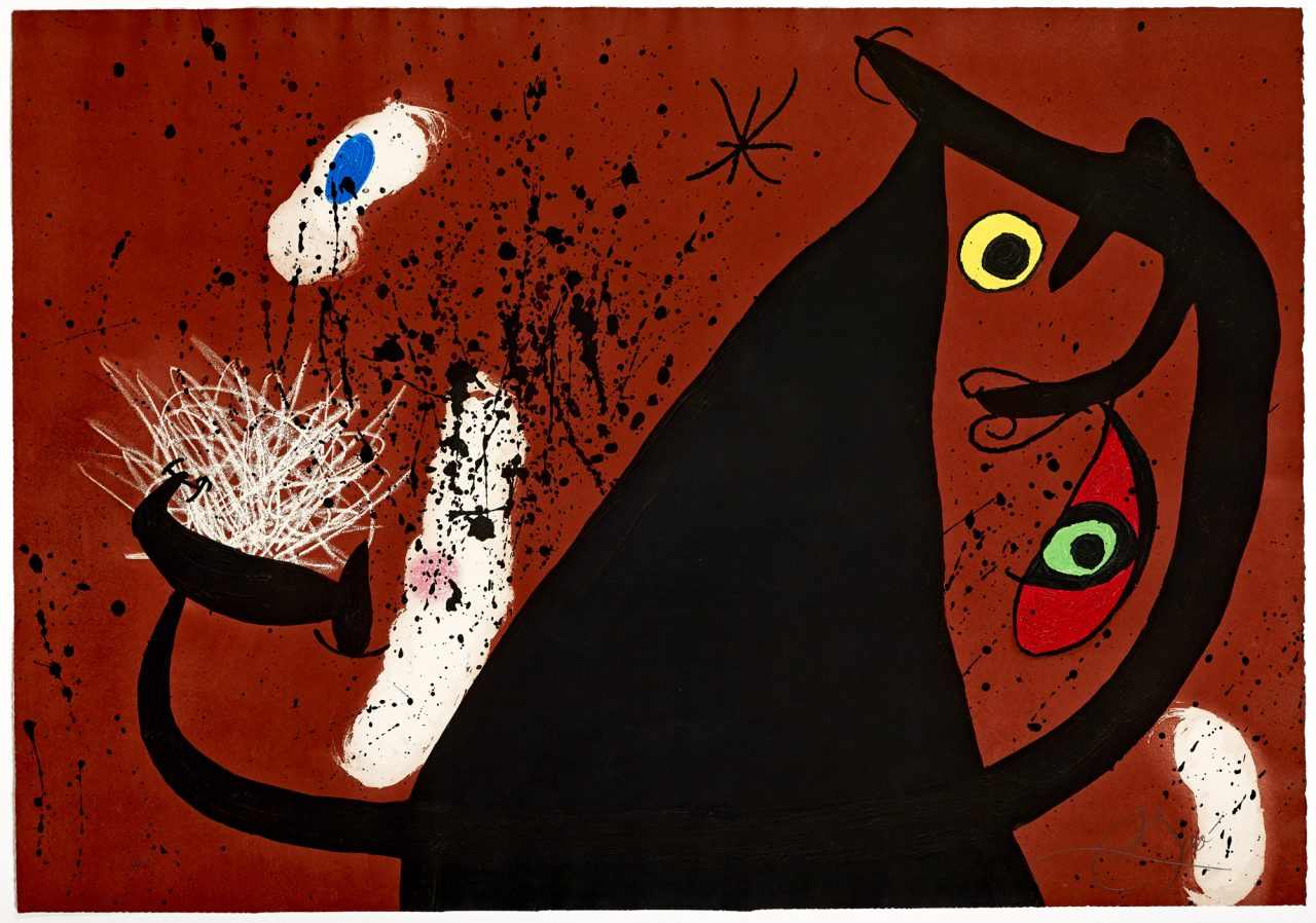https://www.artsandcollections.com/wp-content/uploads/2019/07/Joan-Miro-Frappeuse-de-silex-1973-1280x898.jpg