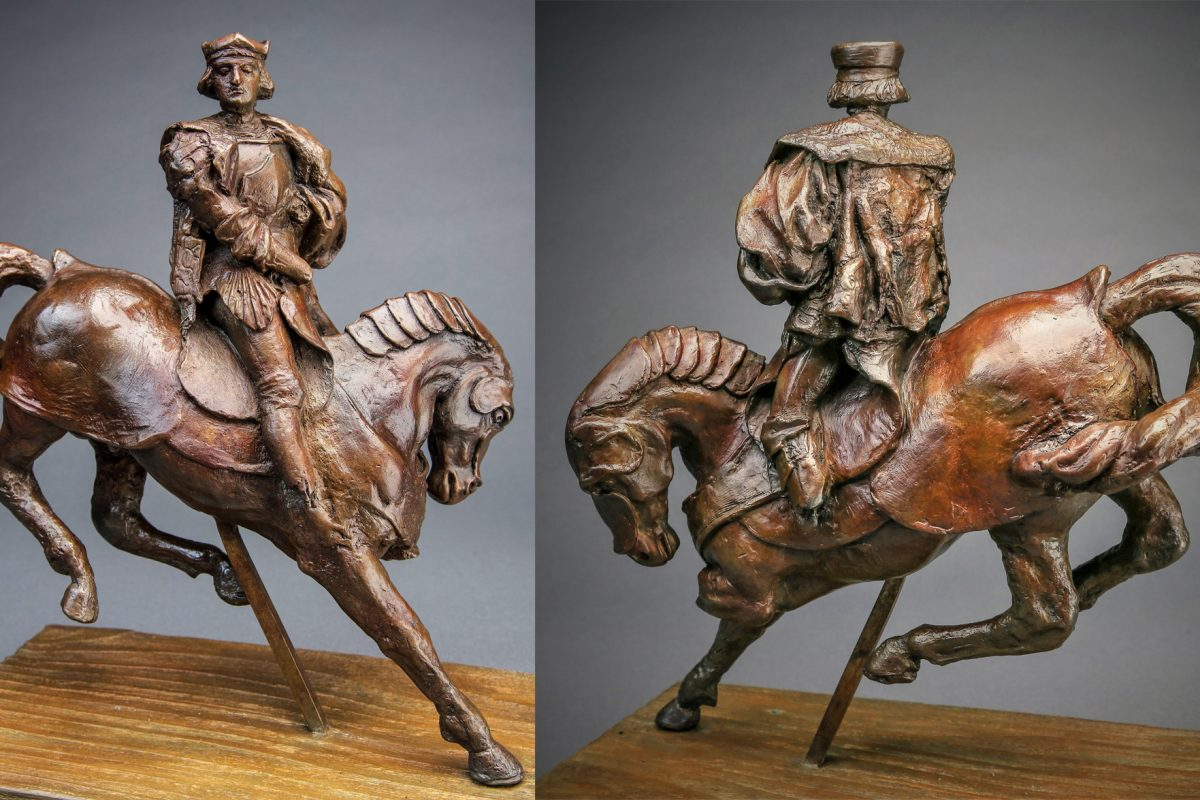 Leonardo da Vinci Bronze Horse and Rider For Auction by Guernsey's of New York