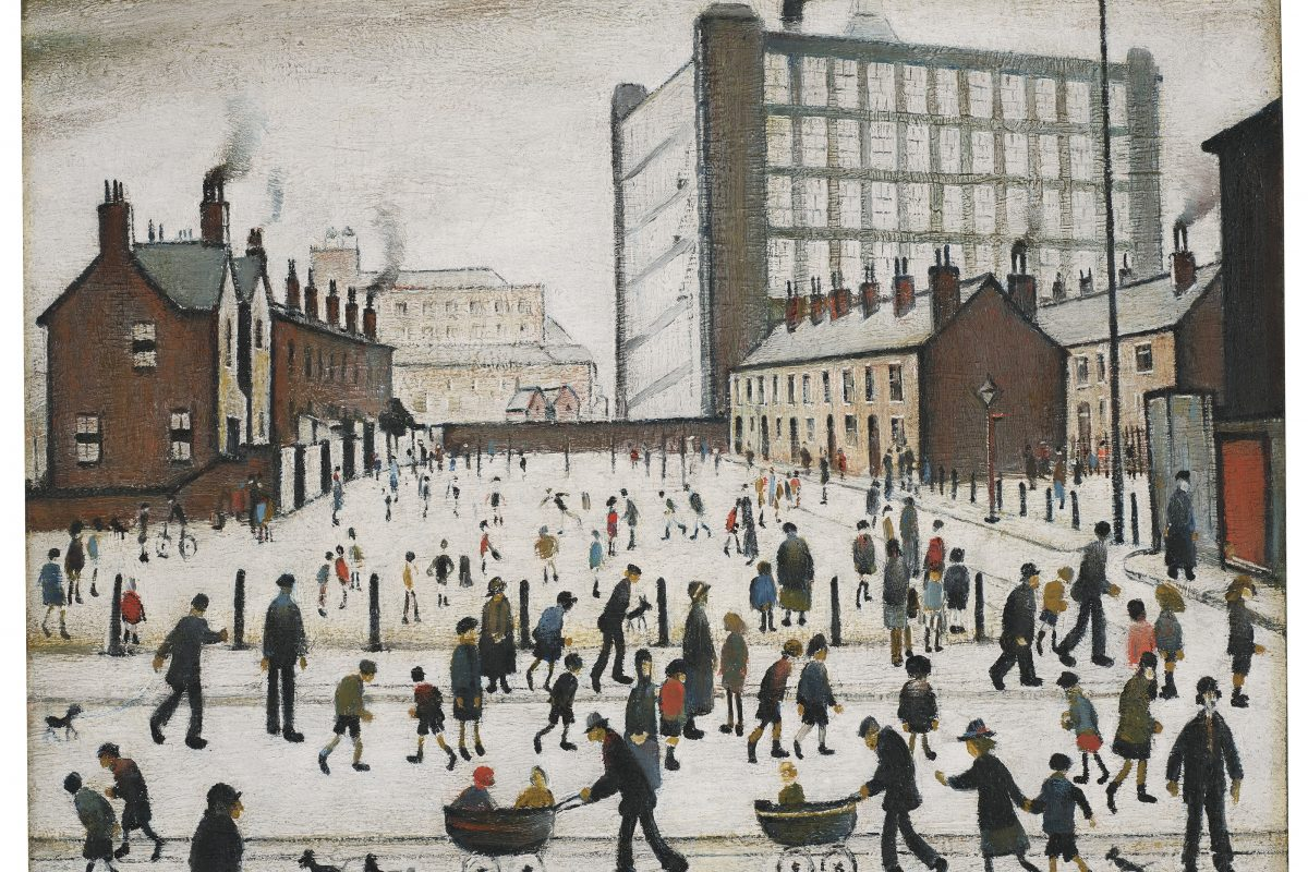 Lost Lowry Painting Sells for Three Times its Highest Estimate at Christie's Auction
