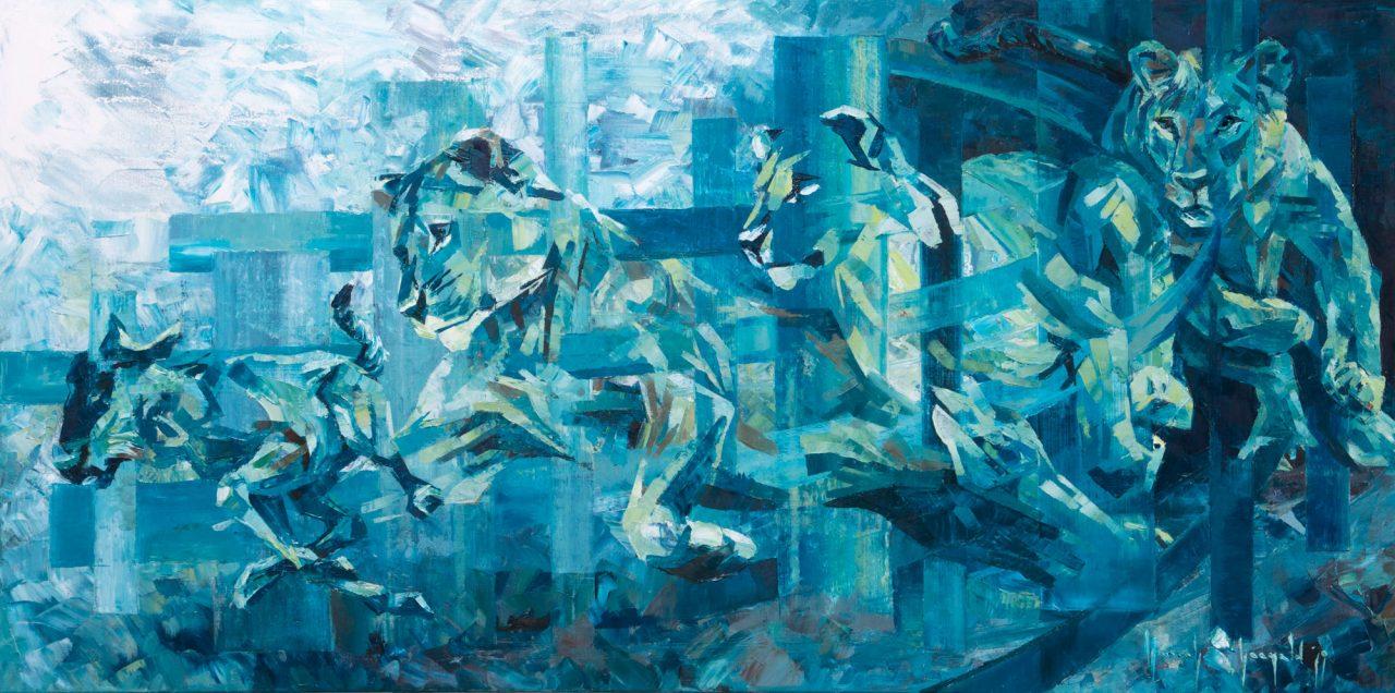 https://www.artsandcollections.com/wp-content/uploads/2020/03/Hannah-Shergold-Lioness-hunt-2-1280x636.jpg