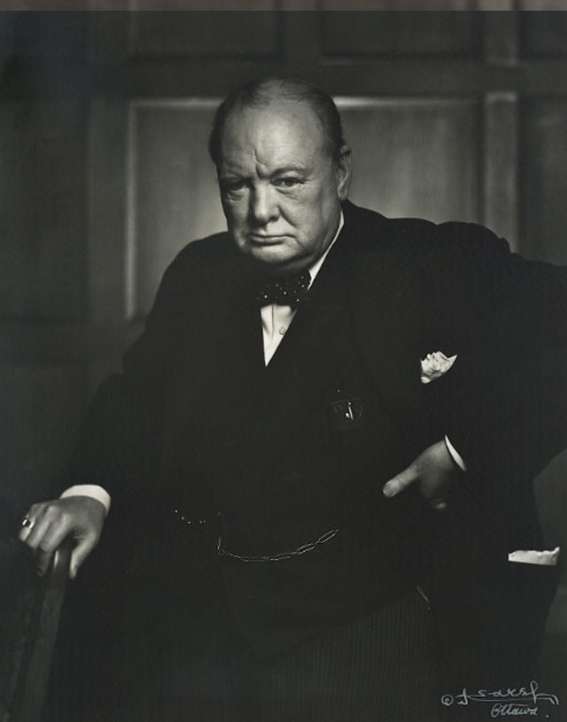 Winston Churchill by Karsh of Ottowa