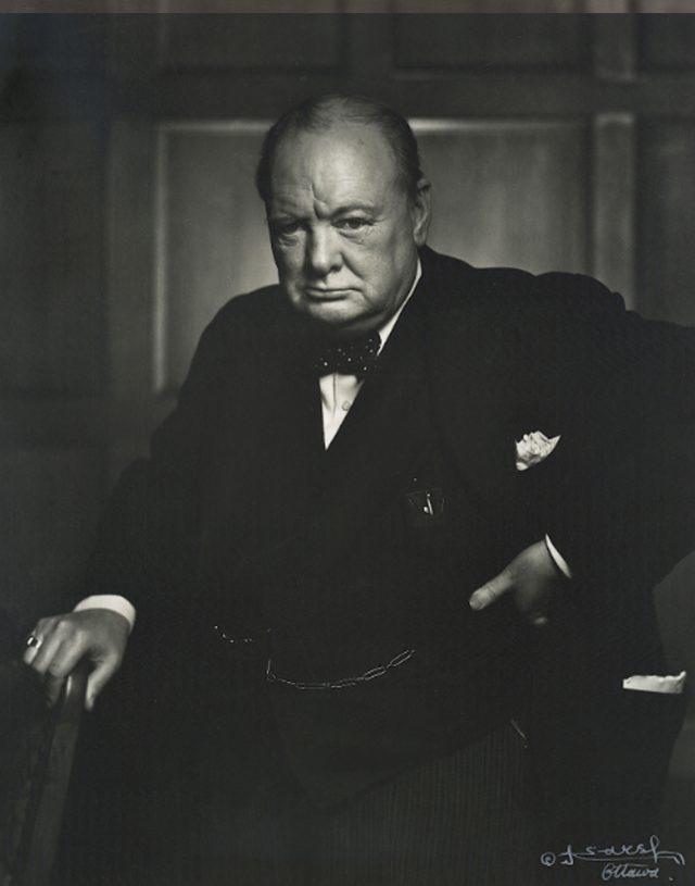 Winston Churchill by Karsh of Ottowa