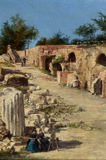 CHARLES BEDDINGTON LTD Antonietta Brandeis (Myslkovice, Czech Republic 1848 - Florence 1926) Rome: On the Palatine Hill