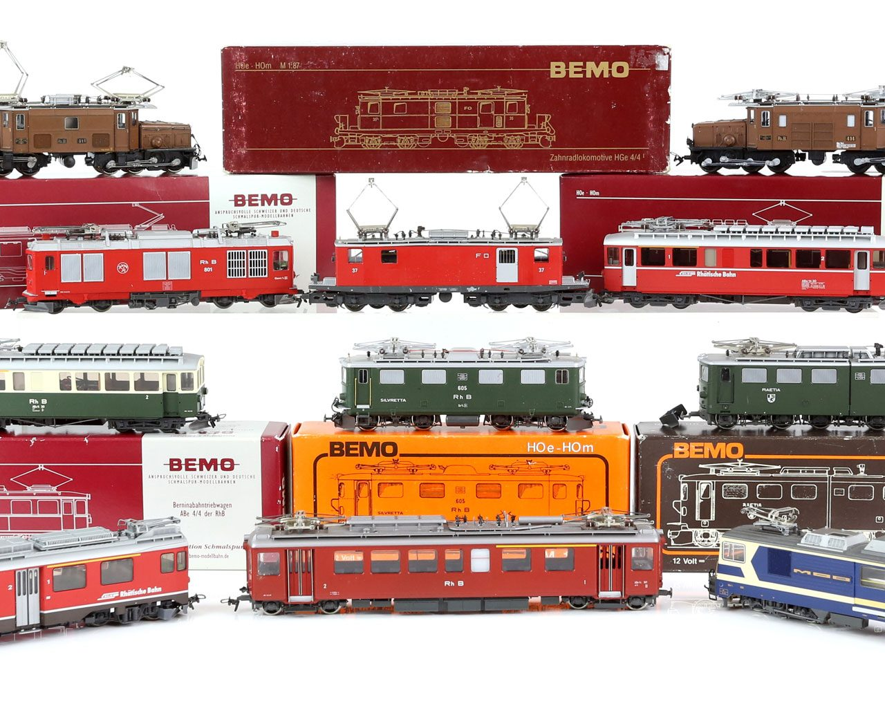 Huge Collection of Model Trains Departing From Platform Ewbank's