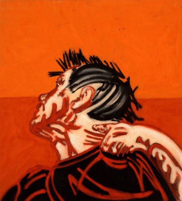 Tony Bevan - Self Portrait Neck - 1988