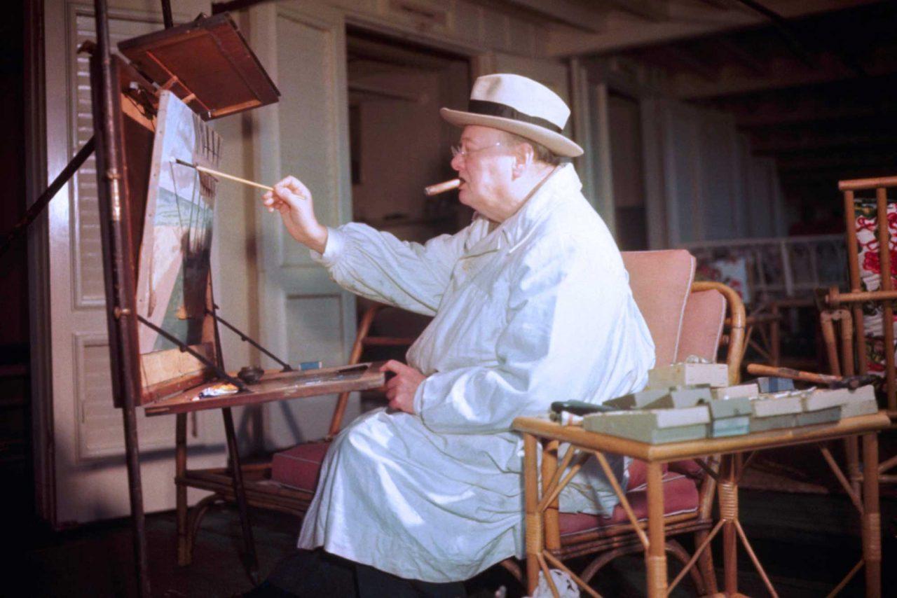 Winston Churchill painting