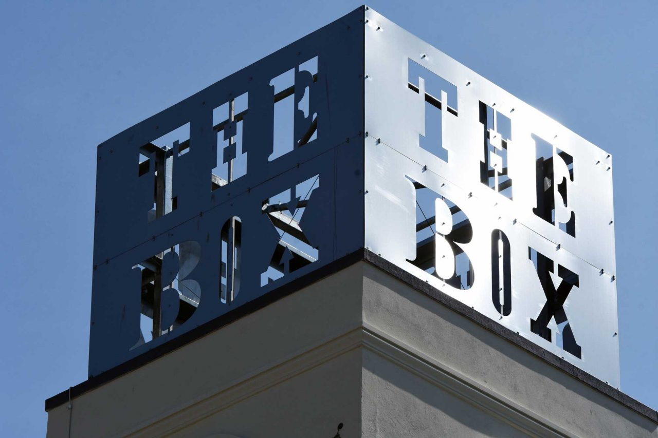 The Box sign