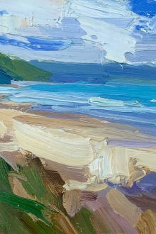 Lucy Kent,Baggy-Point,-across-Woolacombe,-30-x-35cm-£680