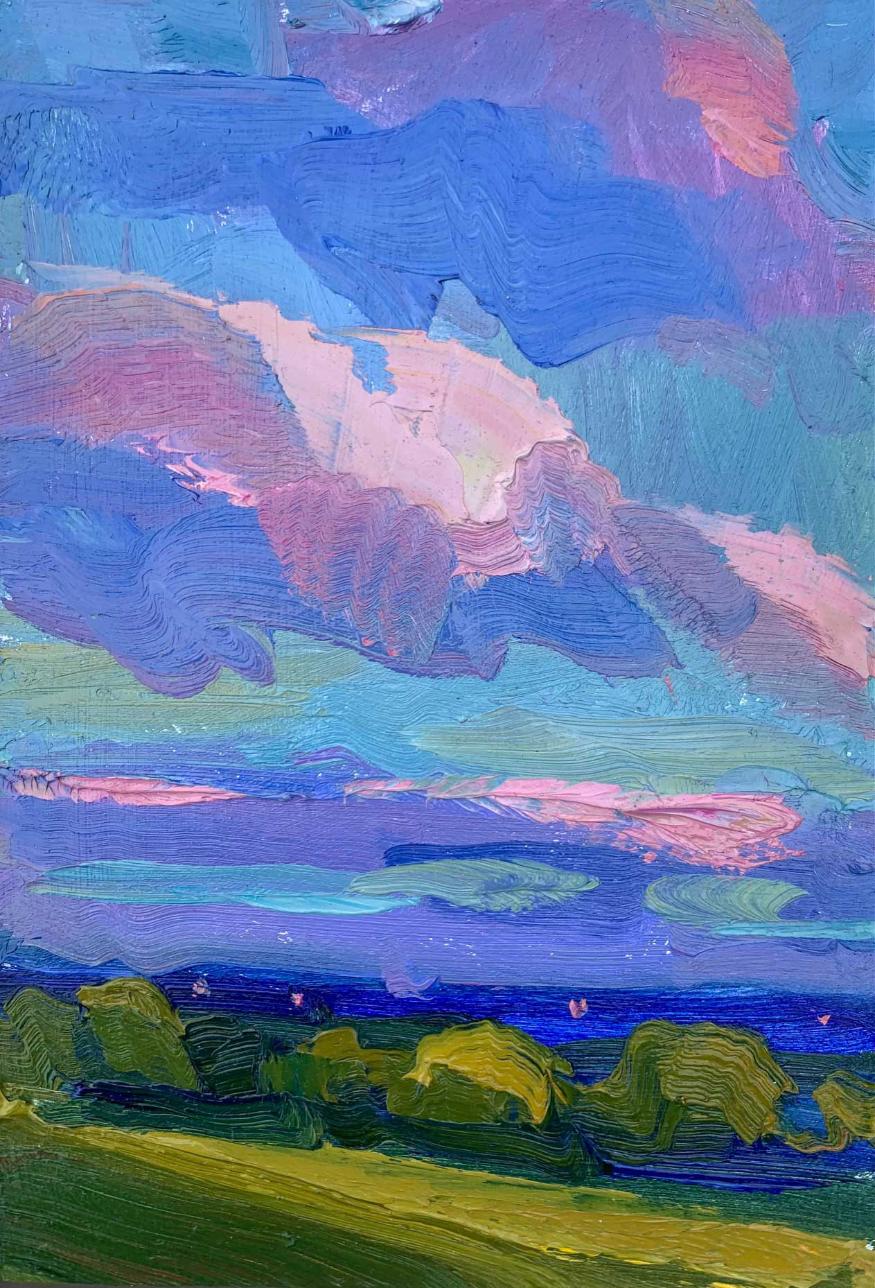 Lucy KentPink-Clouds,-30-x-35cm-£680