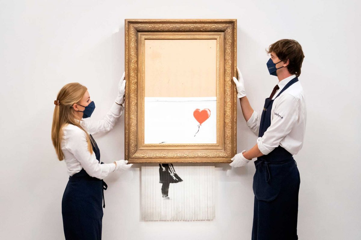Banksy's 'Love is in the Bin' Sells for a Record £18.6m at Sotheby's